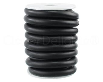 """5 Ft - Solid Rubber Cord - 3/8"""" (9.53mm / .375 Inch) Round - Black - Premium Solid Rubber Cording - For DIY, Beading, Jewelry, Crafts"""