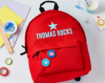 Personalised Boys Backpack - Backpack With Name - Boys School Bag - Girls BackPack - Name Bag For Boys - Back To School Gift