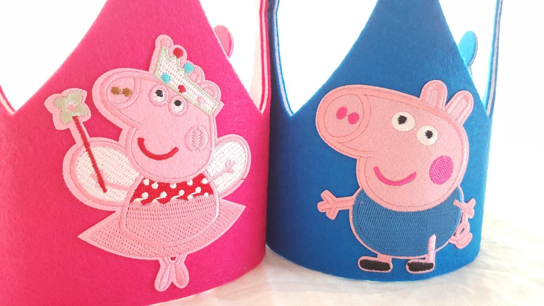Peppa Pig Birthday Hat Peppa Ballerina Party Hats George Pig # Muebles De Peppa Pig