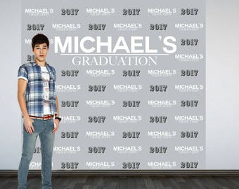 Graduation Personalized Photo Backdrop, Congrats Grad Photo Backdrop, High School Grad Photo Backdrop, Photo Booth Backdrop, Class of 2018