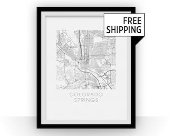 Colorado Springs Map Print
