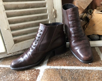 2 thousand 3, vintage boots, ladies, ankle boots, size 36.5 EU/3.5 UK, made in Holland, 1970s-1980s