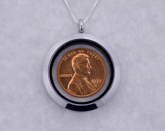 40th Birthday Gift - 40th Anniversary Gift - 1978 Penny Coin Locket Necklace Jewelry - Birthday Gift for Mother - Birthday Gift for Sister