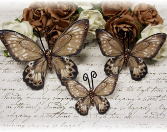 Decadence Butterfly Die Cut Embellishments for Scrapbooking, Cardmaking, Tag Art, Mixed Media, Wedding