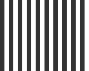 Black and White 1/2 Half Inch Stripe by Riley Blake Designs - Stripes - Quilting Cotton Fabric - choose your cut