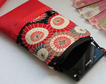 size custom Phone case - smartphone case - phone sleeve - Red Umbrella