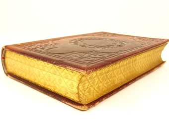 1856 The Poetical Works of Henry Longfellow. Gauffered edges. Extra-illustrated.