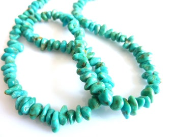 genuine turquoise chips PF090 50 beads