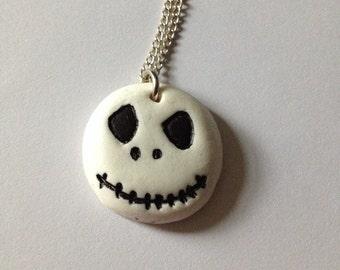 Jack Skelton Nightmare Before Christmas fimo handmade necklace.