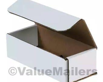 150 7x3x2 WHITE Corrugated Shipping Folding Boxes Sunglasses Tuck 7 x 3 x 2