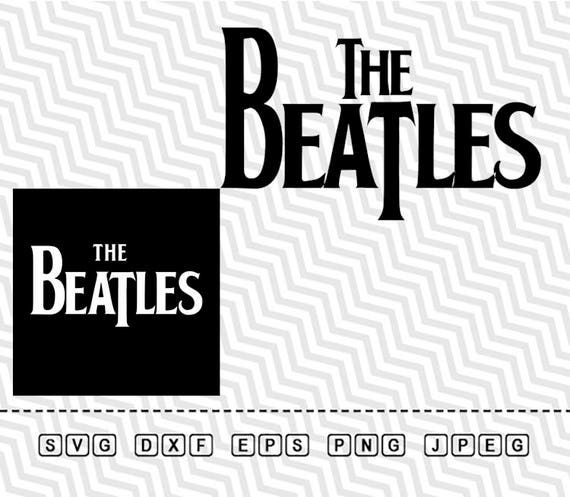 SVG The Beatles Logo Vector Layered Cut File Silhouette Cameo