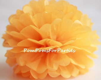 1 High Quality GOLDENROD Tissue Pom Pom - Choose any of 50 colours - Hanging  Paper flower - Tissue paper balls - Tissue paper pom poms