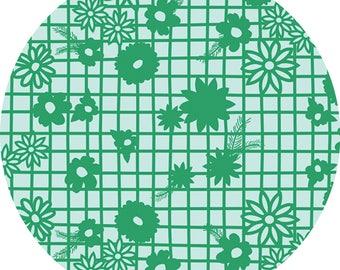 Art Gallery Fabrics - FIESTA FUN - Papel Picado verde by Dana Willard
