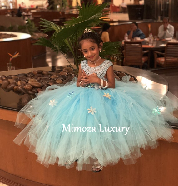 Elsa Deluxe Princess dress, turquoise tutu dress, frozen themed birthday party, Elsa Frozen princess dress Frozen costume outfit Elsa disney