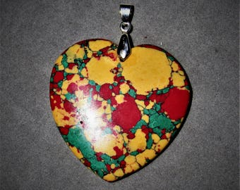 The Colors of Love, heart pendant