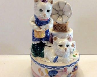 Erbe Mint Spieldose Katzen, Kätzchen Kitten In the Mood. Frei Schiff in USA