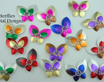 Chainmail Scale Butterfly kit - Make your own Butterflies. Scalemaille Beginner Level kit