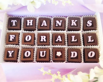 Thanks For All You Do Chocolates -  Appreciation Message - Teachers gift - Administrative Professionals' Day Gift
