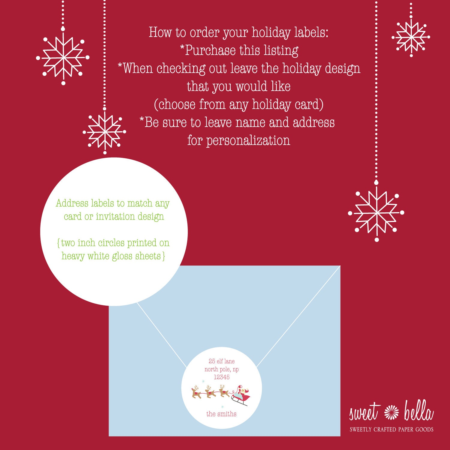 christmas holiday return address labels christmas address
