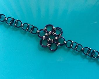 Flower Chainmail Bracelet