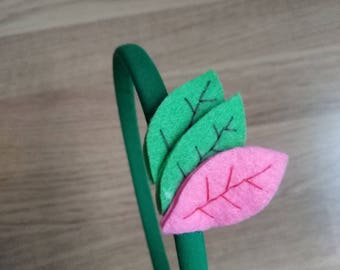 Green forest headband