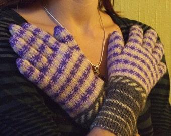 handknitted gloves