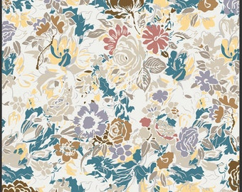 Millefiore Cream floral VOILE premium cotton fabric - Art Gallery Fabrics - floral fabric, apparel fabric