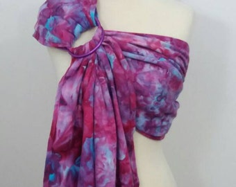 Broken twill ring sling -100% organic cotton- hand dyed- baby wrap - pink, fuchsia, purple, turquoise, blue