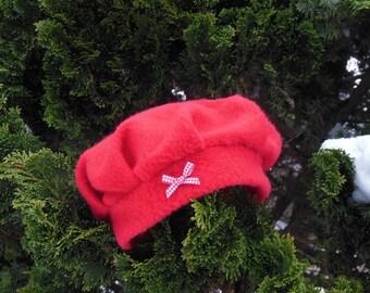 Baby girl fleece beret