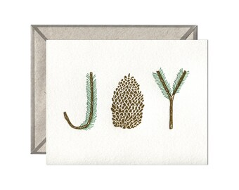 JOY letterpress card - single