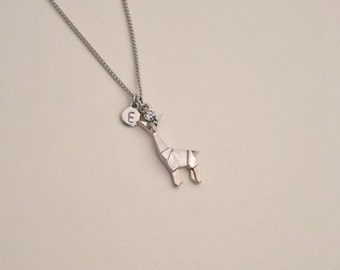 giraffe initial charm listing necklace il cute