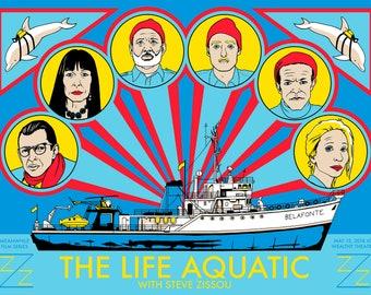 THE LIFE AQUATIC Screen Printed Poster