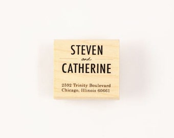 custom simple address stamp