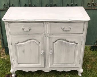 Hand Painted French Country Style Buffet, Annie Sloan Chalk Painted French Furniture