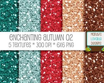 SALE - Enchanting Autumn Glitter 02 - Textures Backgrounds - teal rose gold - Scrapbooking, Photography, Blog Design, Invitations - CU OK