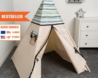 children teepee tent, kids play tent, tipi, teepee tent, indian wigwam AZTEC 2