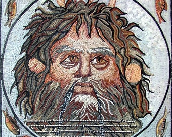 Ouranos Mosaic Portrait