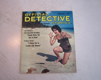 Official Detective Stories Magazine - September 1958 - high grade