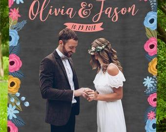 Rustic Wedding Backdrop, Floral Wedding Backdrop, rustic wedding decor, rustic backdrop, Floral wedding banner, Rustic Wedding Photo Booth