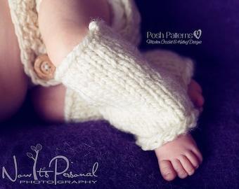 Knitting PATTERN - Knit Baby Leg Warmers - Knitting Pattern for Babies - Knitting Patterns - Includes 4 Sizes Newborn to Child - PDF 291