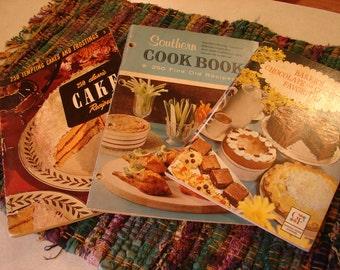 Vintage Cookbooks Mad Men Era 1950s Vintage Southern Recipe Booklets Set of 3