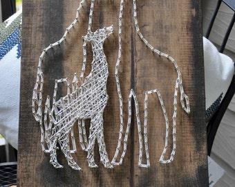 Familia de jirafa | Muestra de arte de la secuencia | Decoración de pared | Vivero | Regalos de bebé