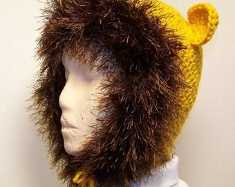 Lion Crochet Hat for Child Pattern Instant Download Digital File