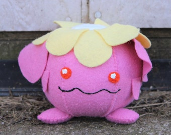 Felt Shiny Skiploom Pokemon Plush