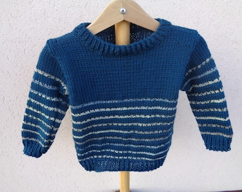 boys sweater wool and acrylic 2 years striped