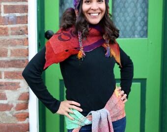 Freeform Crochet earflap hat