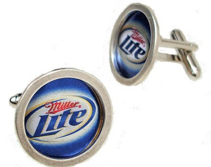Bottle Cap cufflinks Birthdays, Graduate or Fathers Day Gifts