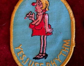I Use Rhythm Vintage Embroidered Patch