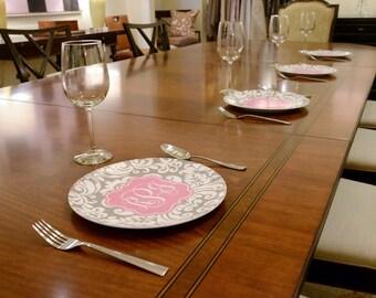 Personalized Melamine Plate - Custom Pattern Color Monogram \u0026 More - Dinner Plate Design & Custom dinner plates | Etsy