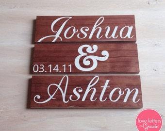 3 Piece Wedding Sign, Custom Wedding Sign, Wedding Date Sign